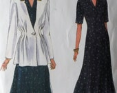 Misses' Jacket and Dress Vogue 8699 sewing pattern, Size  14 16 18, Uncut