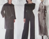 Misses' Coat, belt and Pants  Calvin Klein Designer  Vogue 2236 Patterns, Plus Size 18 20 22, Uncut