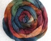 Handpainted Roving -- Yak, Merino and Silk