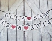 Wedding banner, personalized wedding banner, name banner, save the date, wedding garland, bride to be , bridal shower