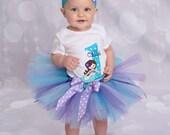 Little Mermaid Tutu Outfit - Baby Girl Tutu - Purple and Aqua - Cake Smash Outfit