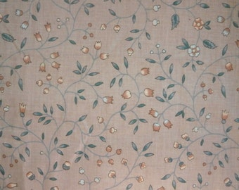 "Vintage Polished Cotton Chintz Fabric Schumacher ""Newberry"" Pattern 1 yard"