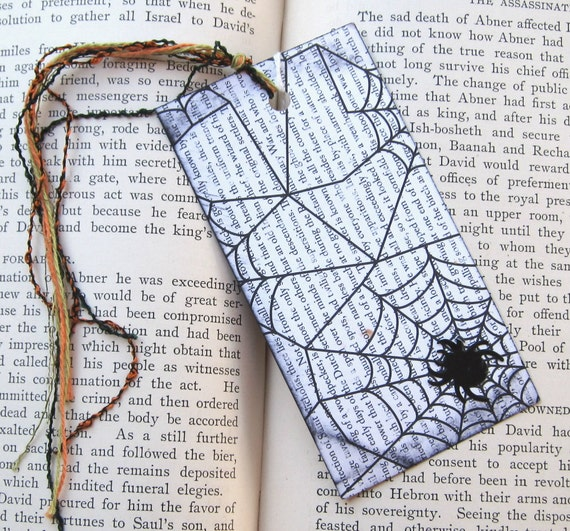 Black Widow Halloween Bookmark