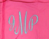Personalized  Spa Towel Waffle Wraps Fuchsia  Personalized Embroidered Monogram FREE SHIPPING in USA