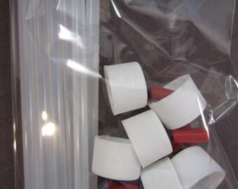 Createx Airbrush Bottle Adapters Set of 6 Paint Quick Change Caps