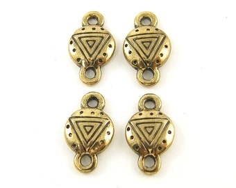4 Pcs Antique Gold Tribal Jewelry Connector Bracelet Link Earring Finding  G6-1 4
