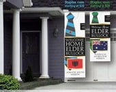 DIGITAL FILE - Giant LDS Missionary Welcome Home Banner - Vertical Tie - for Elders with Flag