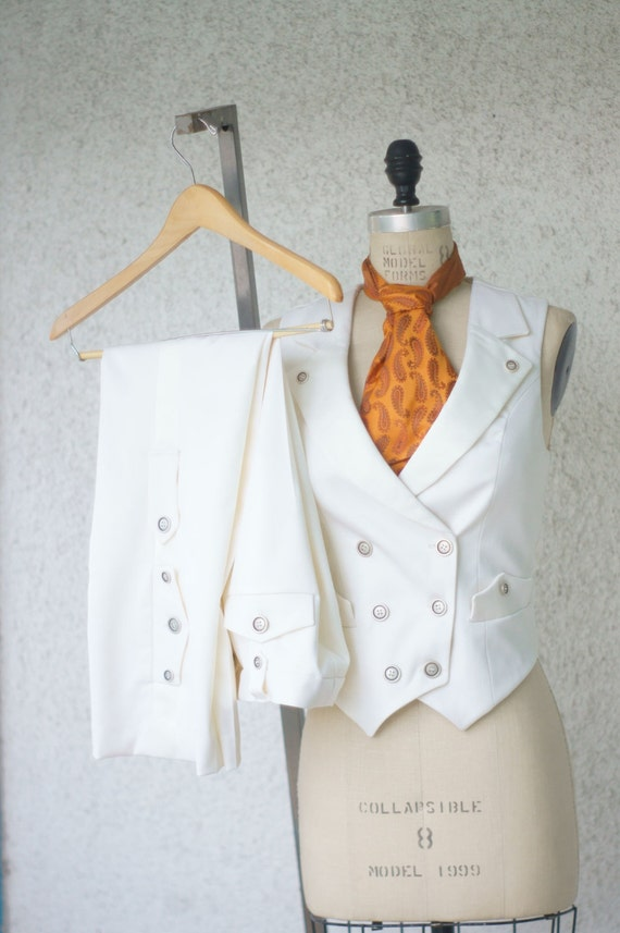 White wedding suita women 39 s steampunk vest tuxedo for Womens white dress suit wedding