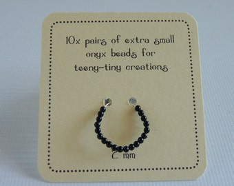 10x pairs TINY black Onyx eyes for very small creations!