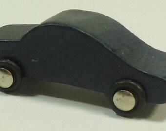 Tiny Wooden Blue Car