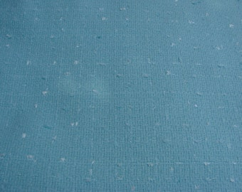 2 Yards of Vintage Aqua Nubby Polyester Blenf Fabric