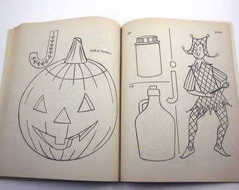 Vintage Children's ABC Coloring Book and Counting Book Includes Halloween Artcraft Saalfield Unused