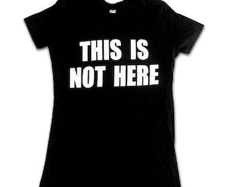 This Is Not Here  john lennon yoko ono retro womens T-shirt