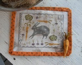 Rabbit Stew - counted cross stitch PAPER PATTERN - from Notforgotten Farm