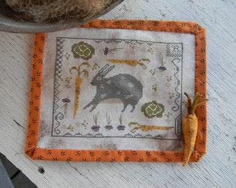 Rabbit Stew - counted cross stitch PAPER PATTERN - from Notforgotten Farm