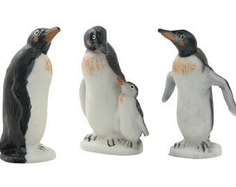 Cute Penguins - Set of  3 - German Old Stock - IV3-2406
