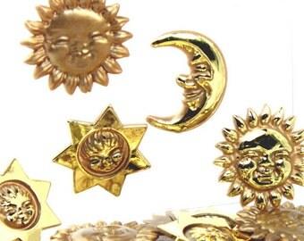 Stars, Moons, & Suns! Retro Vintage Assorted -  IV3-2450