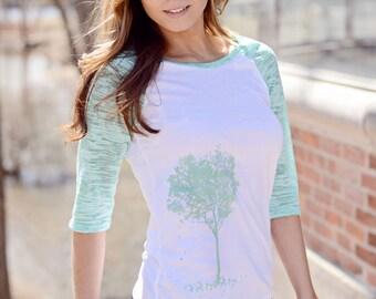 XL  - women's t-shirt. spring tee.tree shirt. ellembee clothing. lightweight fabric. tee shirts women. ladies tshirt.