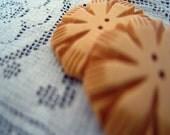 Vintage Bakelite Buttons Heavily Carved