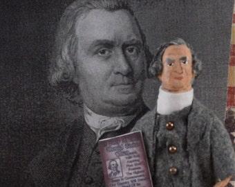 American Patriot Sam Adams Revolutionary Historical Doll by Uneek Doll Designs