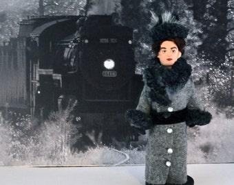 Anna Karenina Doll  Leo Tolstoy Art Collectible Miniature