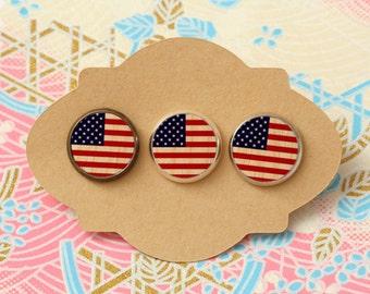 10 pcs handmade flag - earrings, pendant, ring - 12mm (PW-062)