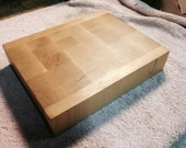 Thick End Grain Cutting Board Made from Beach Wood