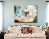 Industrial Art Print lights out of focus with grainy lens photo image Giclee Print on Canvas