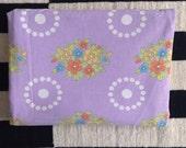 Seventies vintage floral duvet cover