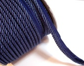 Blue Cord, French Blue Braided Lip Cord Trim 5/16 inch wide x 3 yards, DecoPro 0516S I14