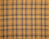 Plaid Fabric | Homespun Fabric | Cotton Fabric |  Brown And Black Plaid Fabric |  1 Yard