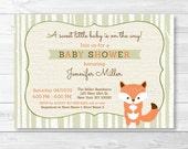 Cute Fox Baby Shower Invi...