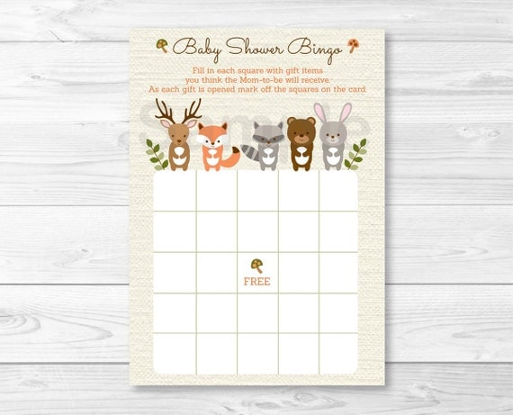 Woodland forest animal baby shower bingo cards woodland baby woodland forest animal baby shower bingo cards woodland baby shower forest animal baby shower printable instant download a187 solutioingenieria Choice Image