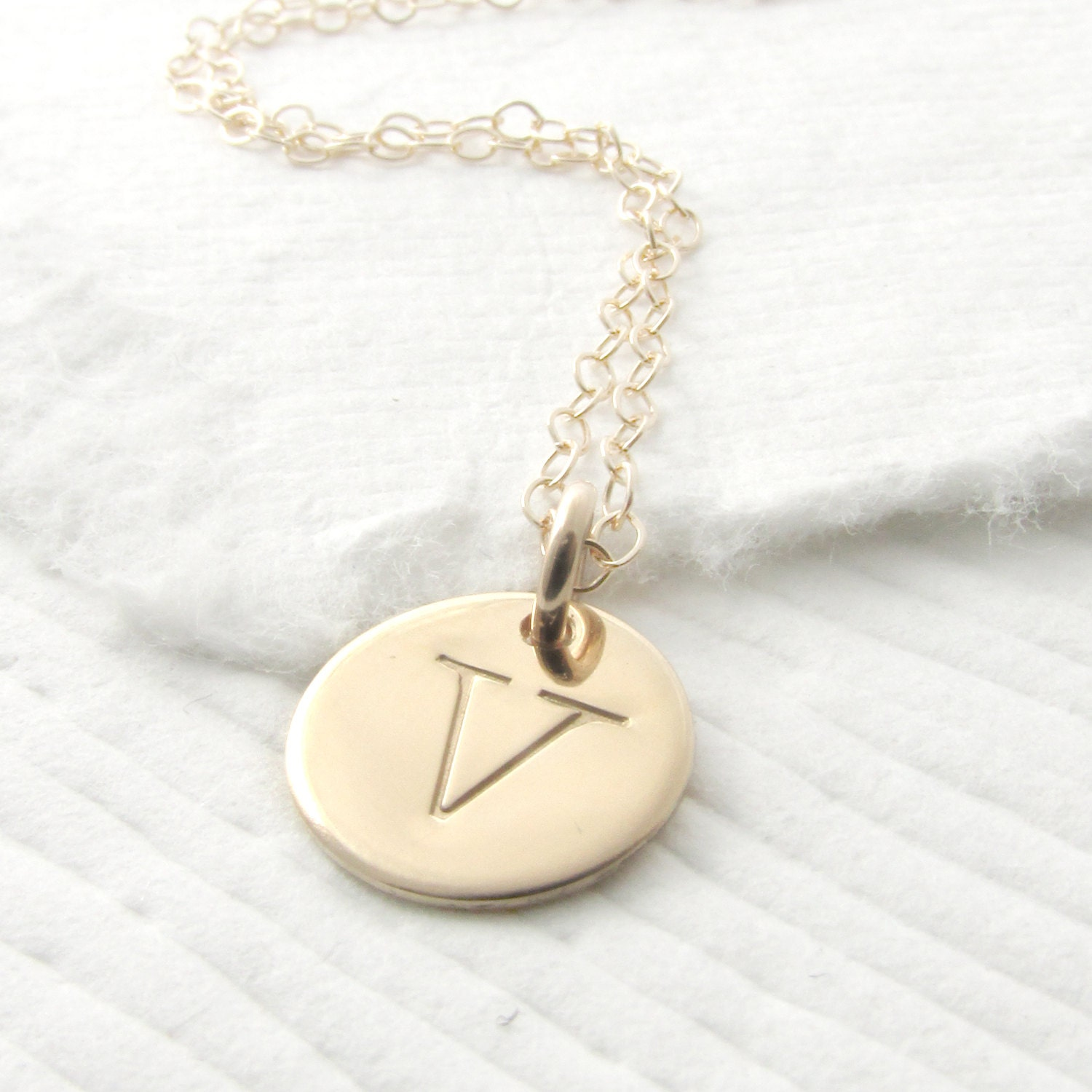Solid gold initial necklace personalized initial necklace 14k for Custom letter necklace gold