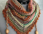 Crochet Scarf Pattern With Bead Trim Easy To Make Instant Download May Sell finished Pieces
