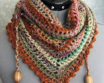 Crochet Scarf Pattern With Bead Trim Easy To Make Instant Download May Resell finished