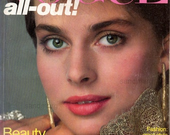 Vogue October 1981 Nastassja Kinski Richard Avedon Fashion Magazine