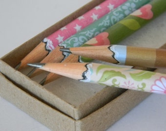 Office Lady Hand wrapped pencils