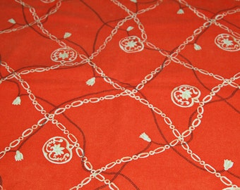 SALE vintage 50s wool novelty fabric, featuring unique rope and chain jewelry style design, 1 yard, 4 yards available priced PER YARD