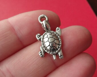 10 Turtle Charms 23x12mm ITEM:AD11