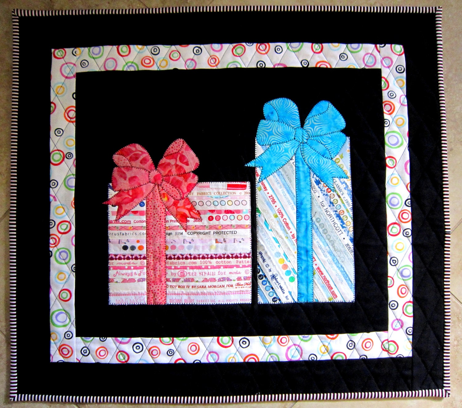 HAPPY BIRTHDAY Selvage Mini Quilt Perfect Gift For Boys And