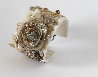 Lace Bridal Bracelet, Statement Bracelet, Rhinestone Lace Cuff, Wedding Jewelry,Bridal Cuff,Lace Cuff,Bracelet,Victorian Cuff Bracelet