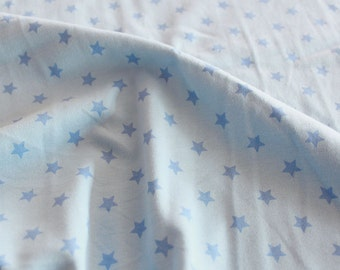 3978 - Star Cotton Jersey Knit Fabric - 66 Inch (Width) x 1/2 Yard (Length)