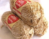Red Heart Medley yarn, bulky weight yarn, SANDY,  tan cream arm knitting yarn