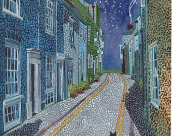 Coppin Street. A Ltd edition, numbered and signed A4 print from a Painting by Richard Friend