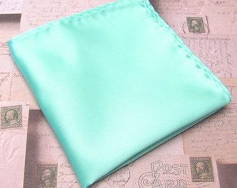 Mens Ties. Pastel Mint Green Pocket Square JCrew Inspired