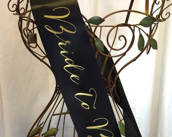 Signature Script Bride to Be Sash - Choose Your Colors