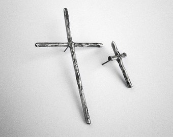 get 50% OFF - enter coupon code PHOENIXSALE at checkout to obtain the reduction -CROSS I - sterling silver earrings
