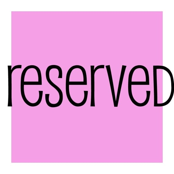 reserved for canosita