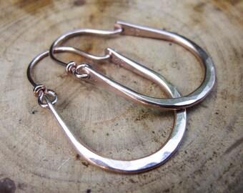 Julia Hammered 14kt Rose Gold Filled Hoops Earrings